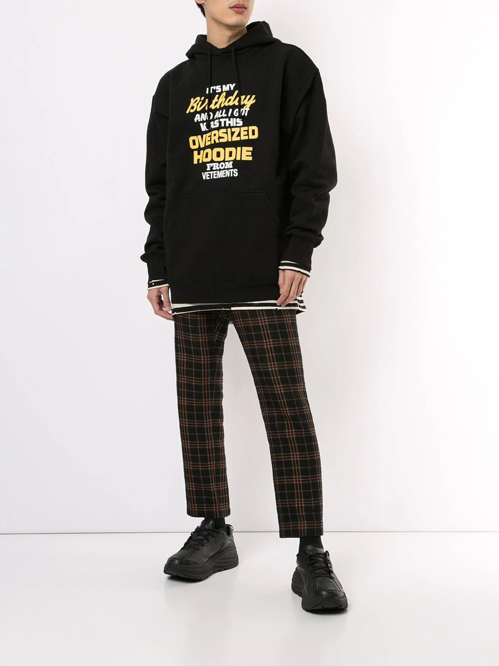 VETEMENTS overpriced birthday hoodie black - Maison De Fashion
