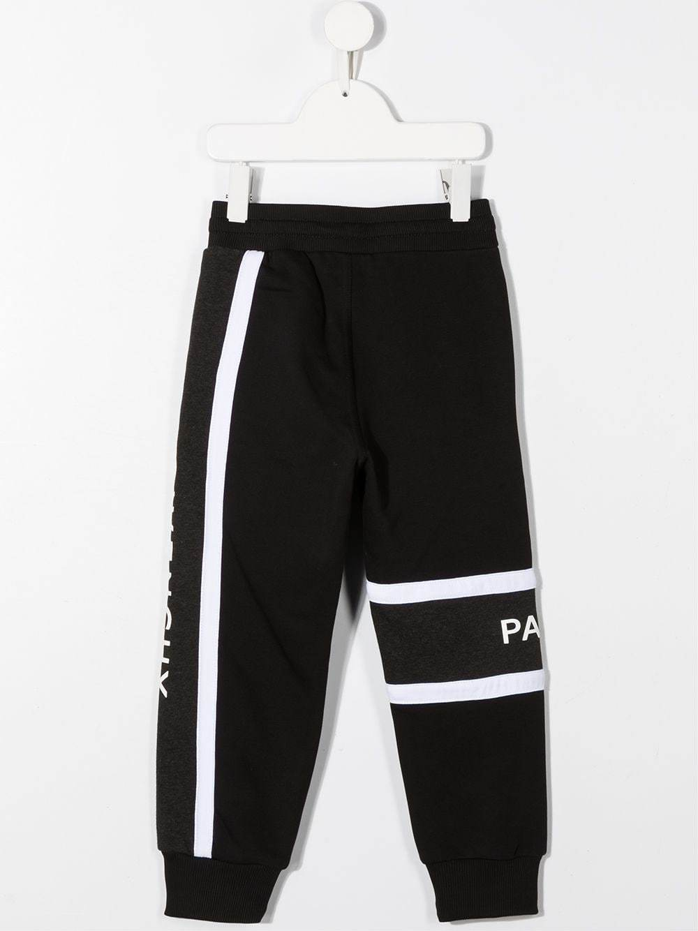 GIVENCHY KIDS Stripe Logo Sweatpants Black