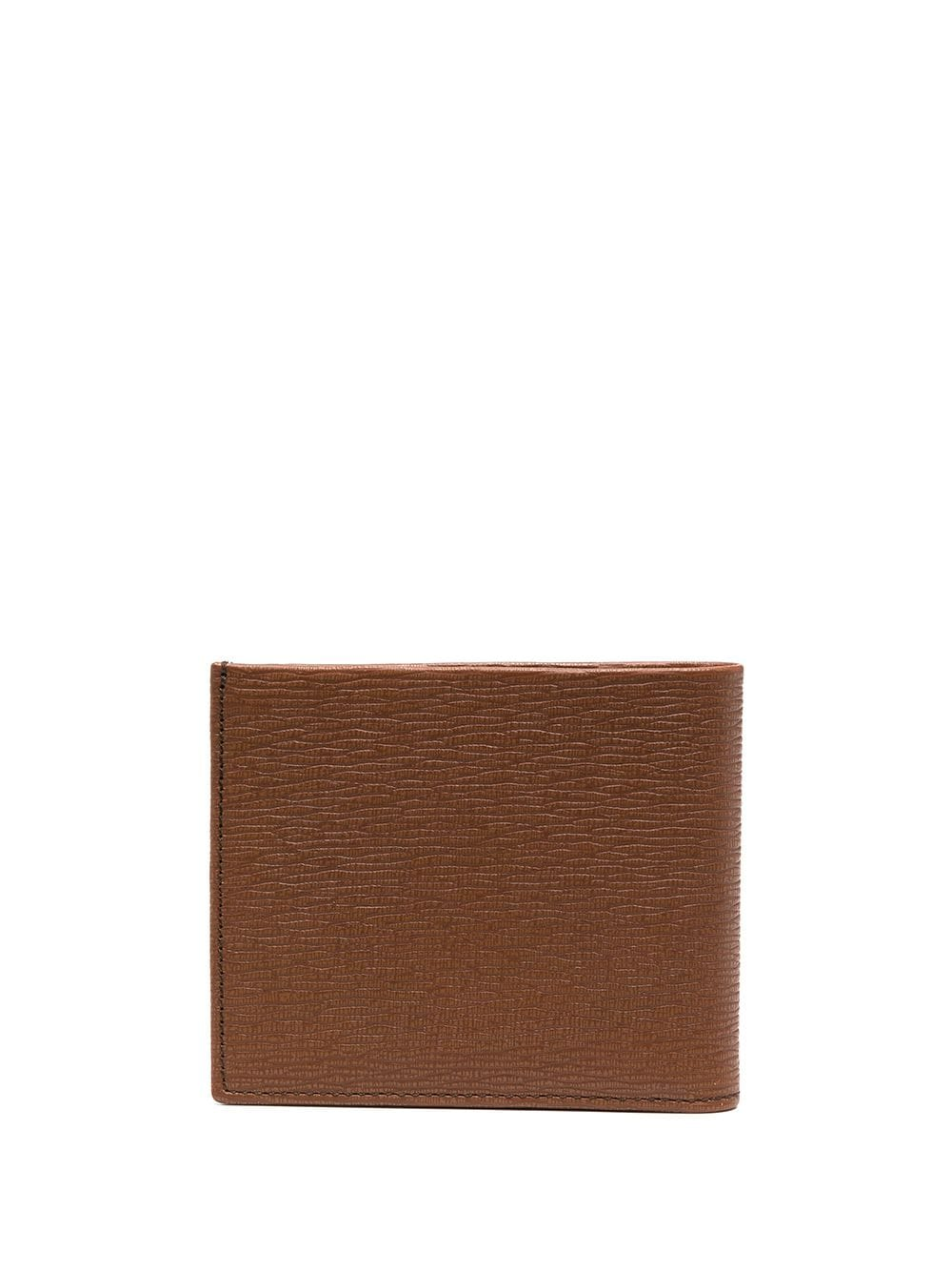 SALVATORE FERRAGAMO Grained Gancini Logo Wallet Brown