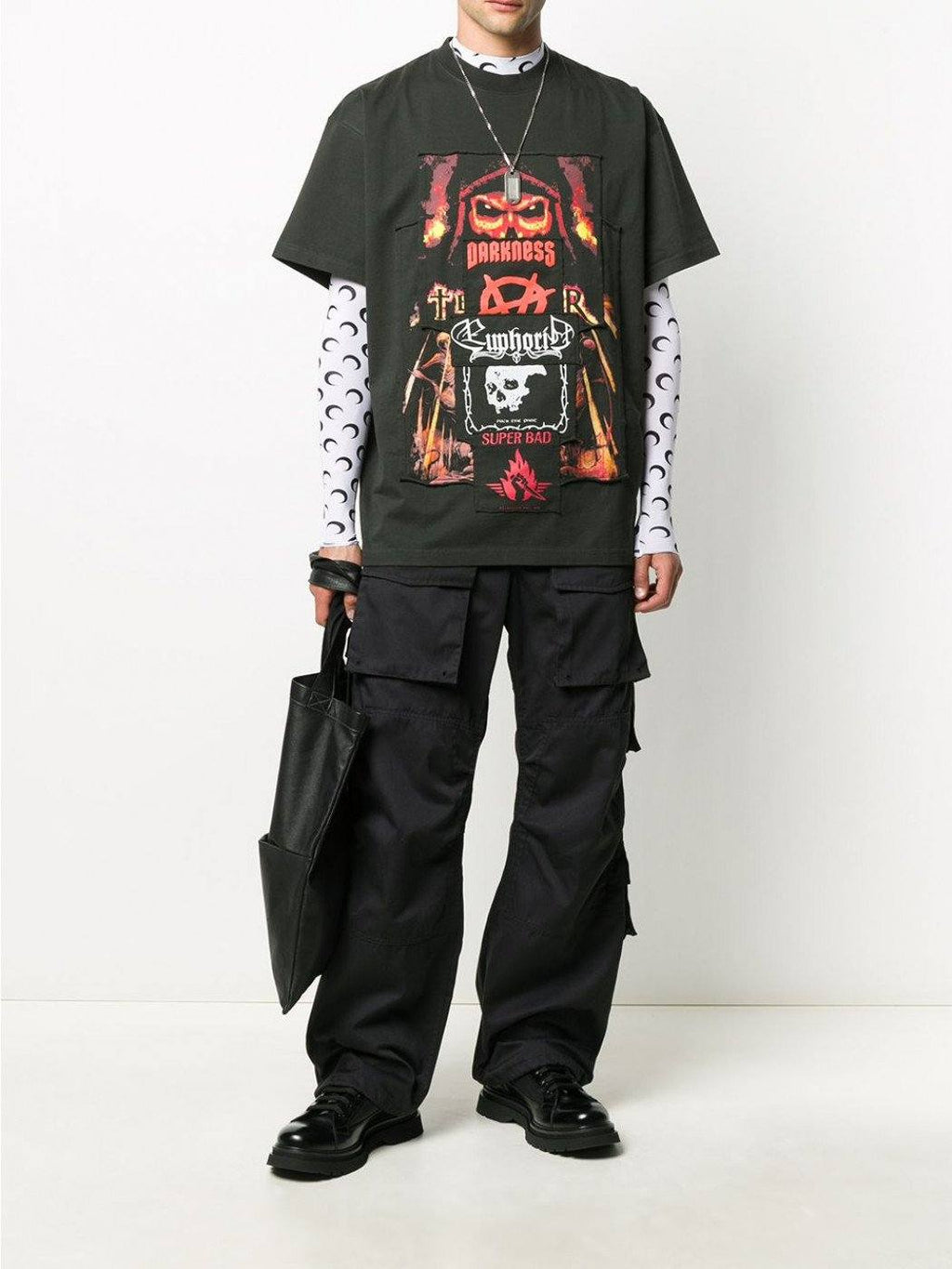 VETEMENTS Metal Patch T-Shirt Black