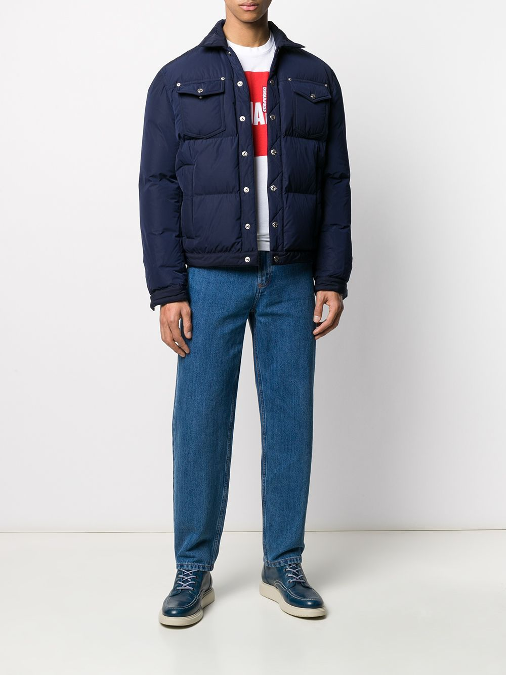 DSQUARED2 Padded Trucker Jacket Navy