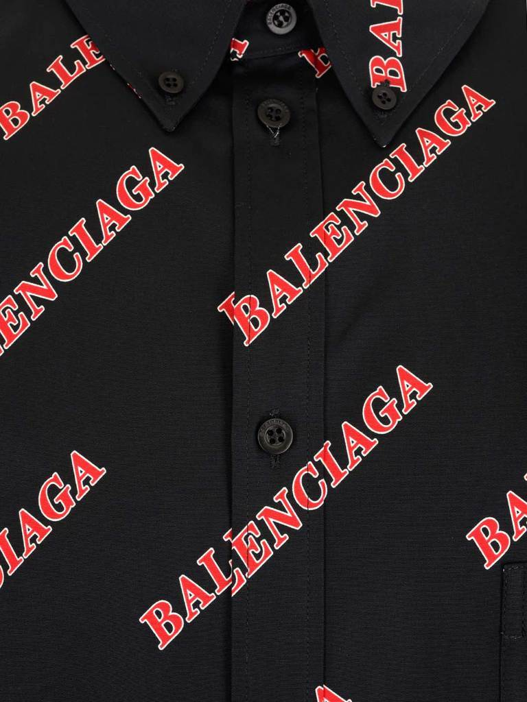 BALENCIAGA All Over Logo Shirt