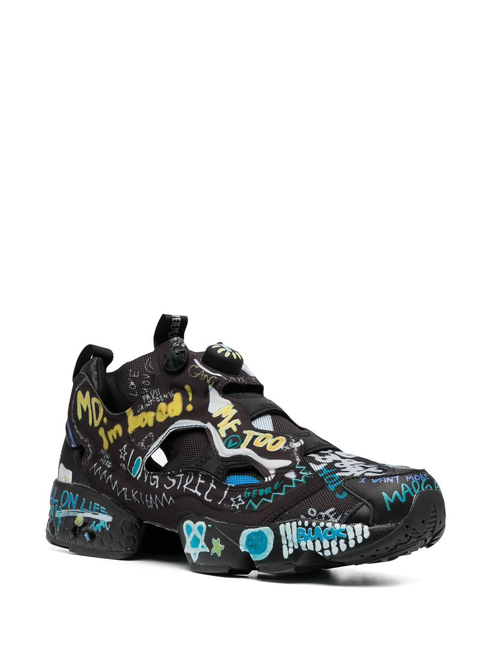 VETEMENTS Reebok Graffiti Pump Black - Maison De Fashion