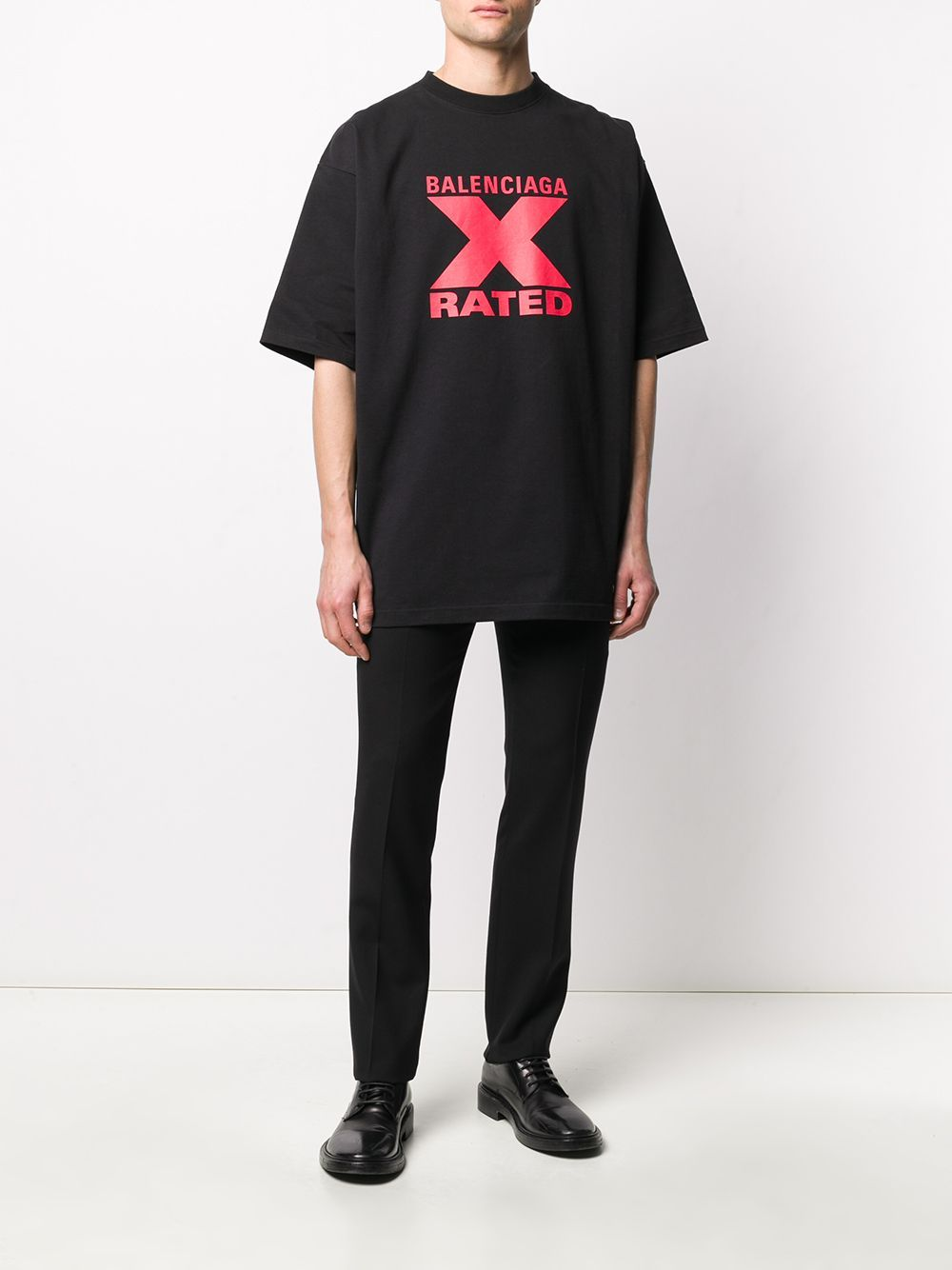 BALENCIAGA x rated t-shirt black/red
