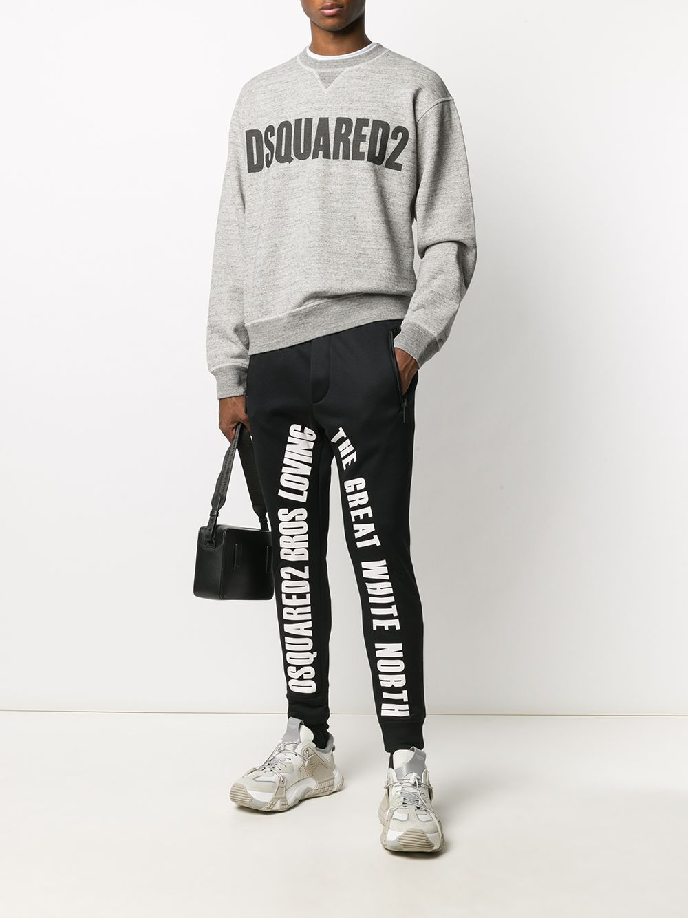 DSQUARED2 Logo Sweatshirt Grey