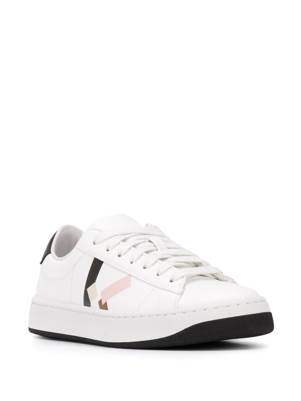 KENZO WOMEN K Logo Low Top Sneakers White