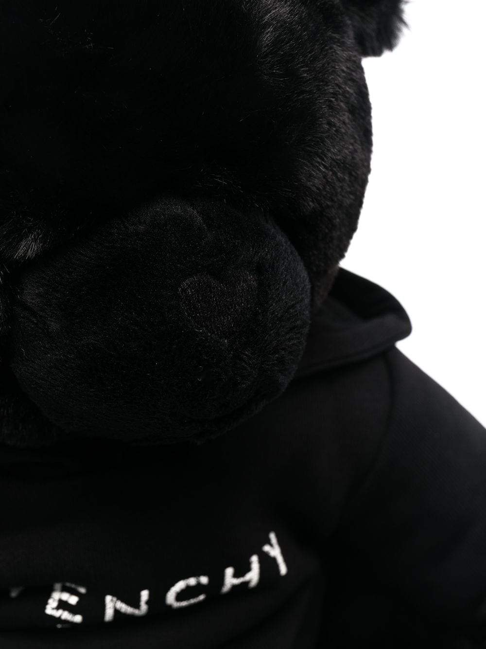 GIVENCHY KIDS Logo embroidered bear soft toy Black