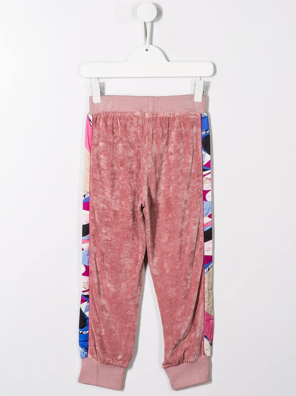 EMILIO PUCCI JUNIOR side print velvet track pants - Maison De Fashion