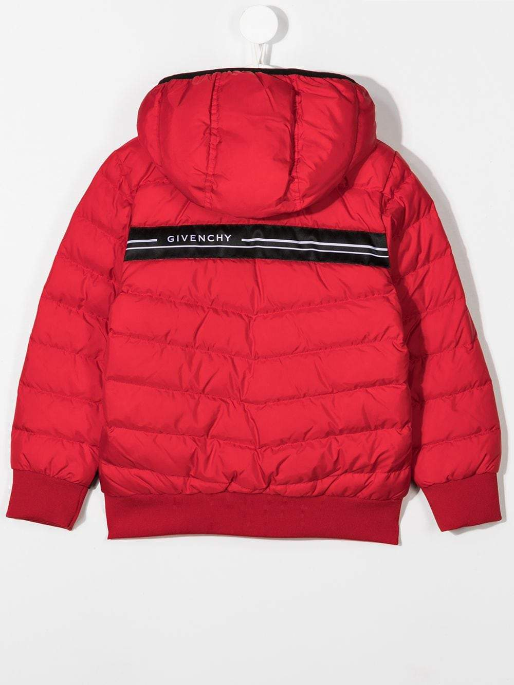 GIVENCHY KIDS Tape Logo Coat Red
