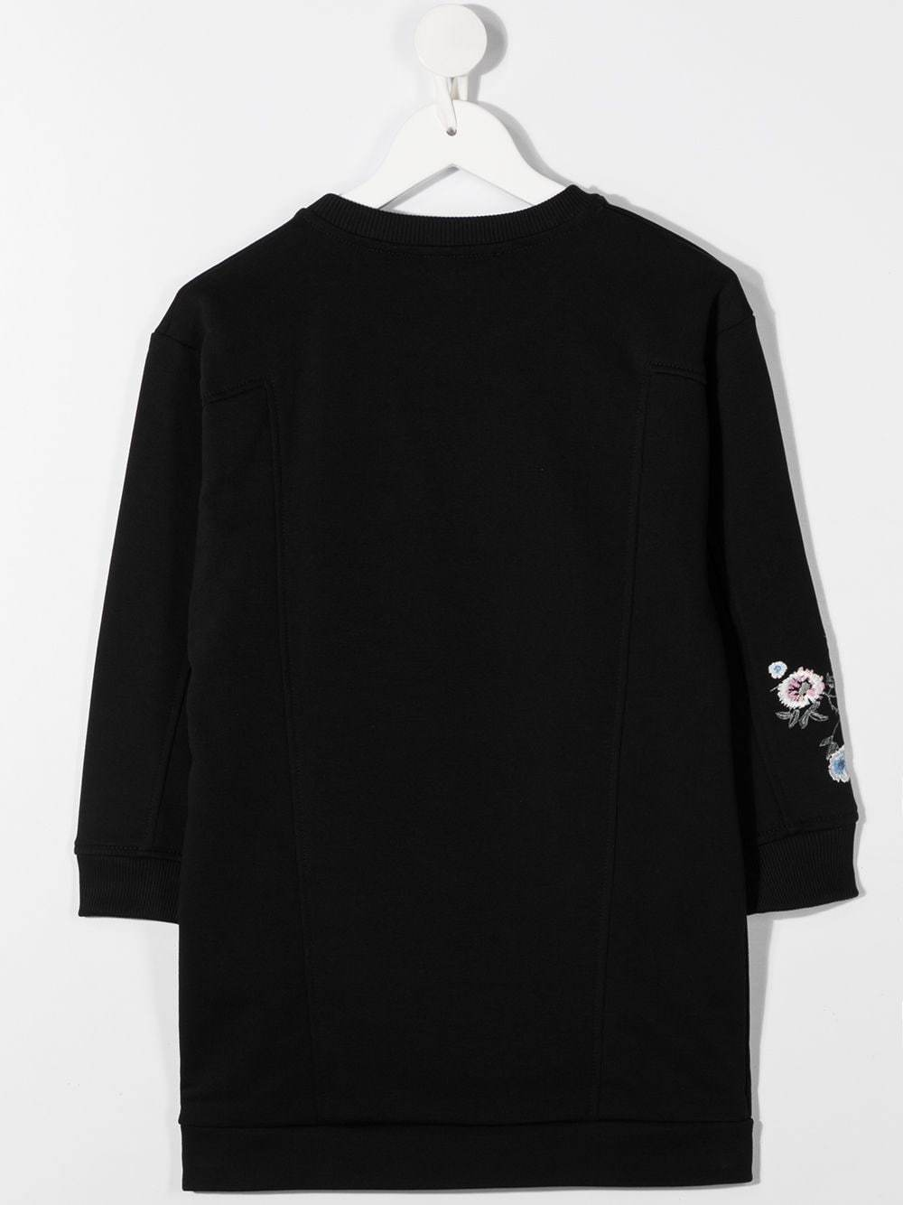 GIVENCHY KIDS Floral Zip Dress Black