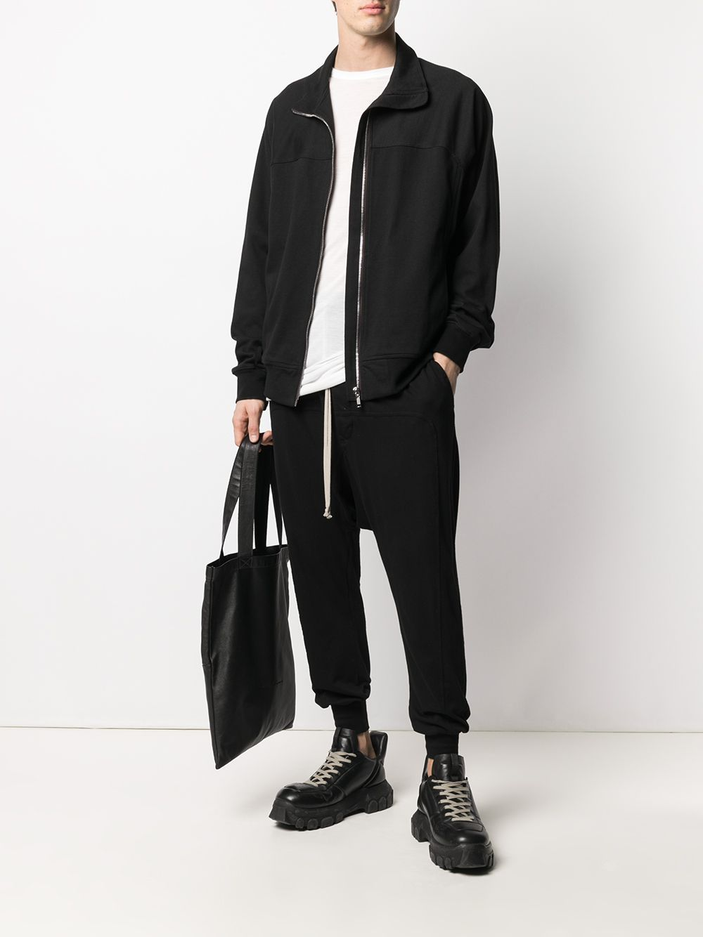 RICK OWENS DRKSHDW Drop-crotch drawstring track pants Black