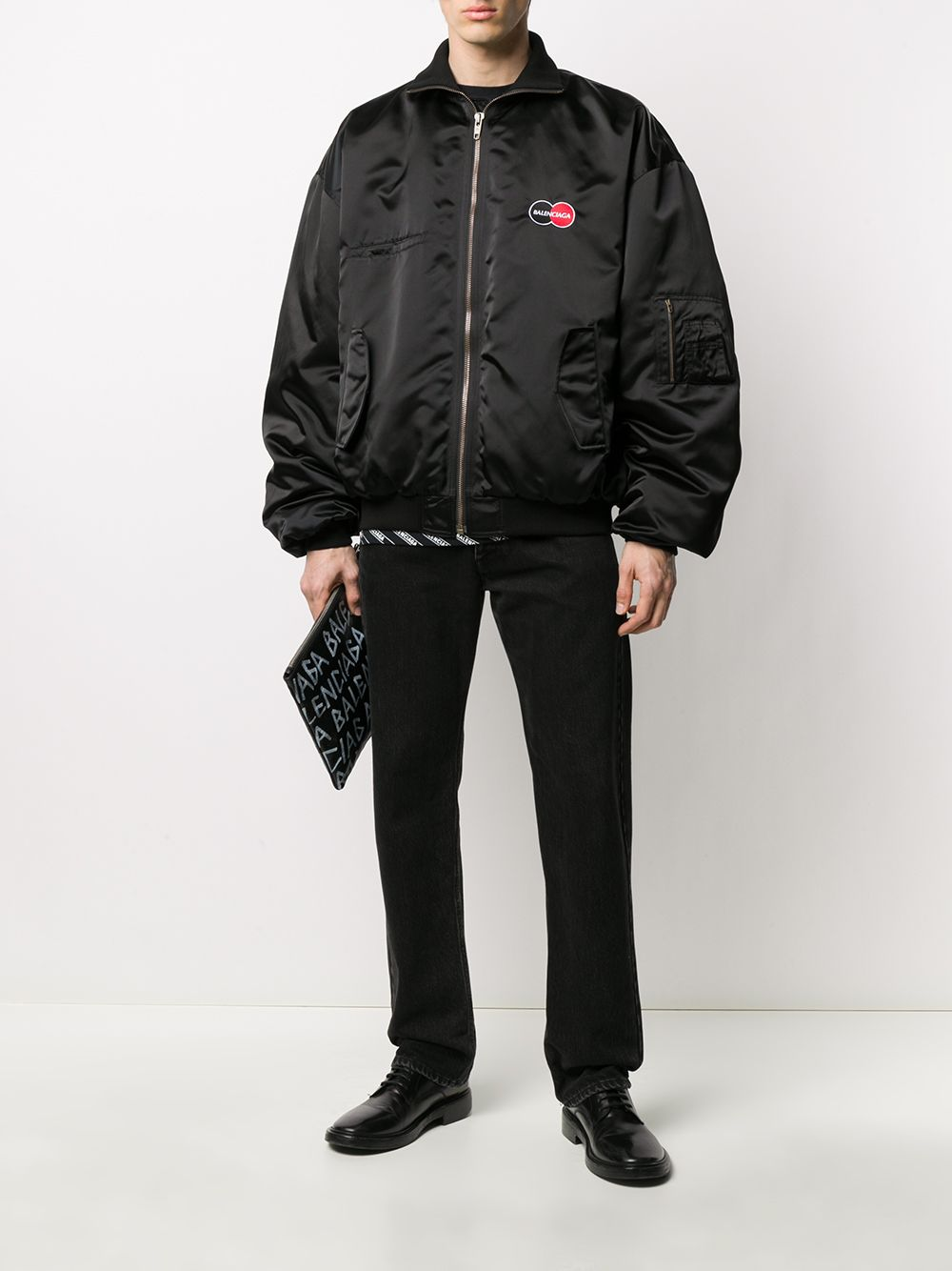 Balenciaga uniform logo jacket black