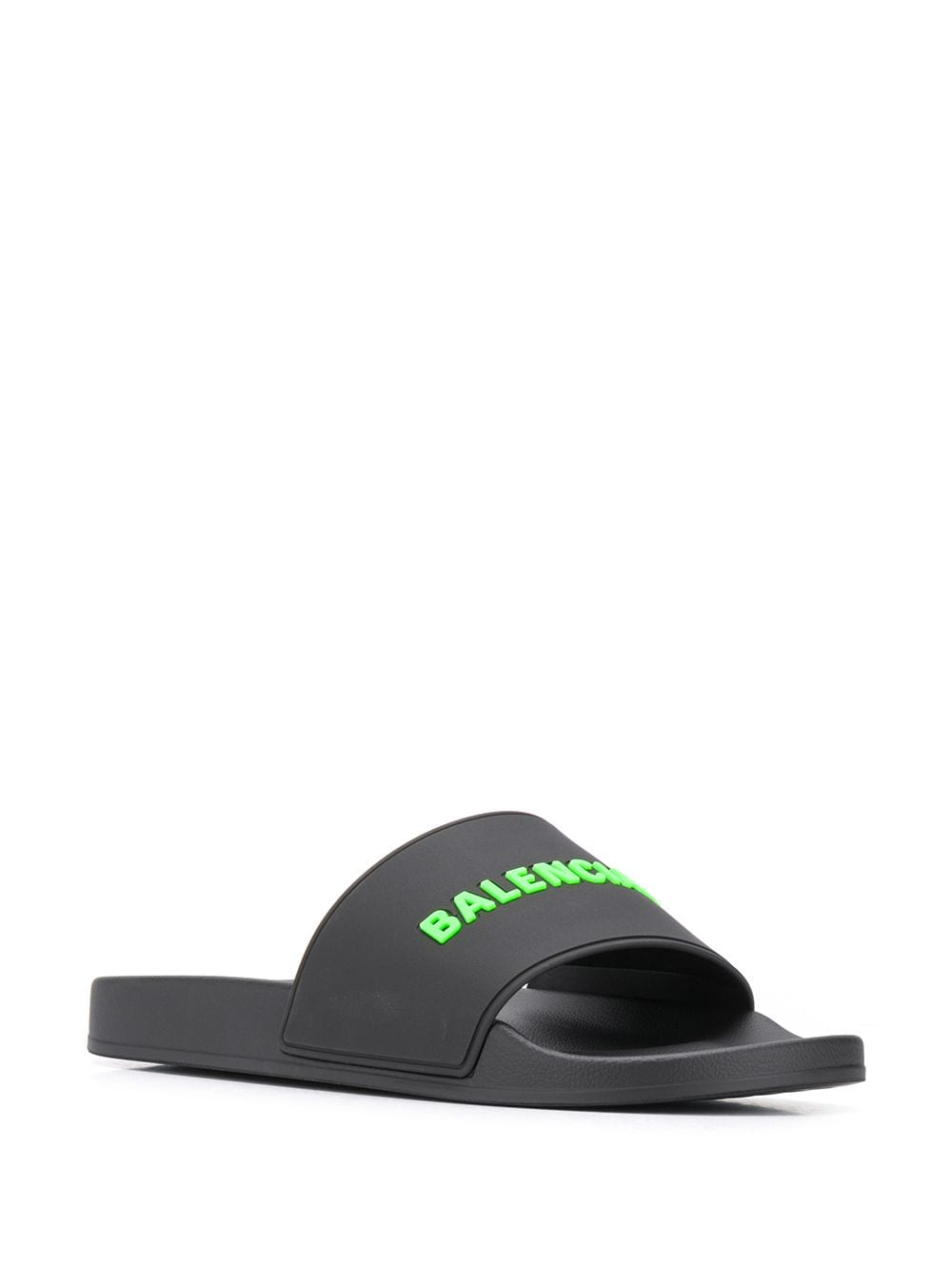 BALENCIAGA embossed logo pool sliders