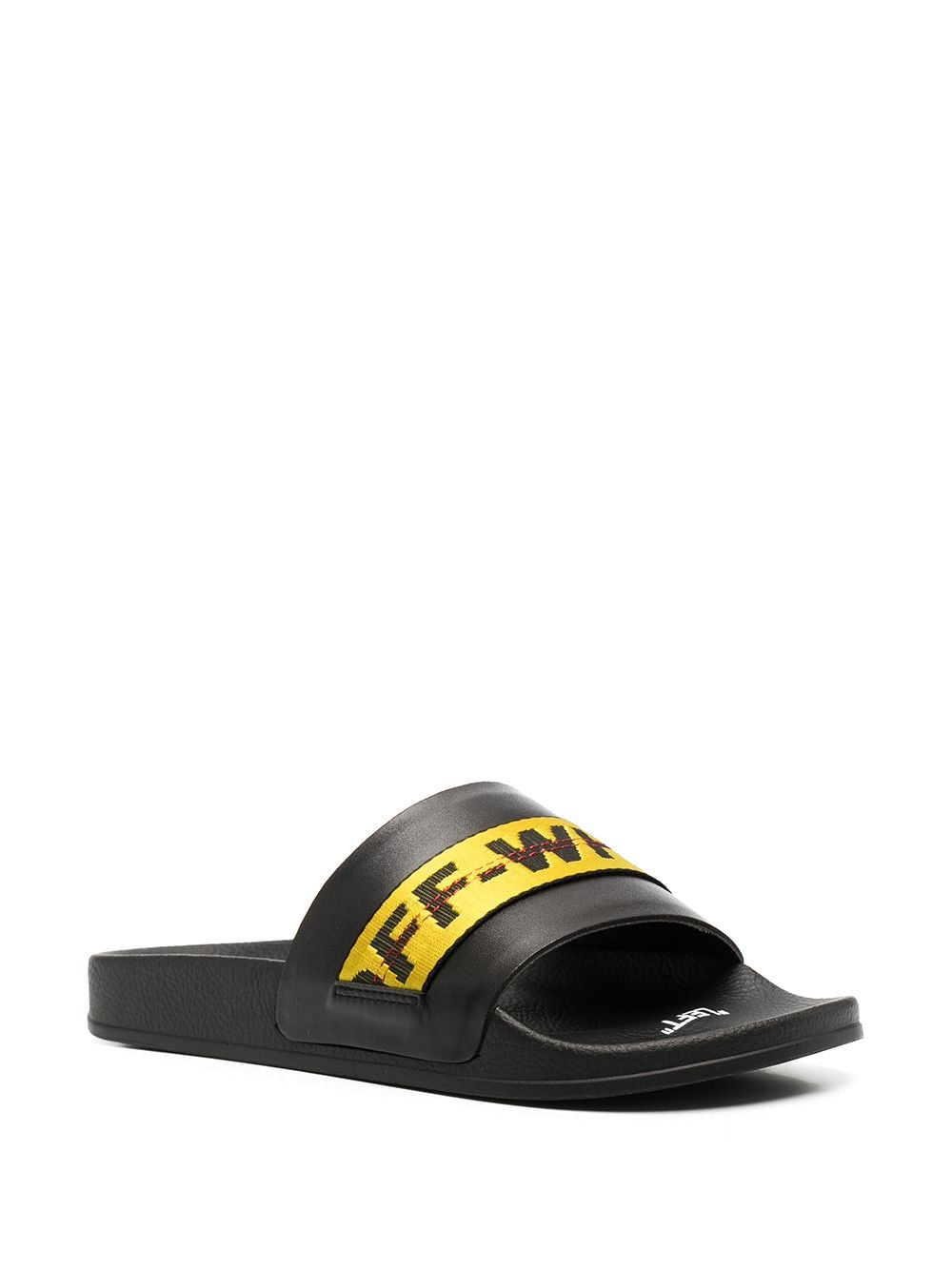 OFF-WHITE Industrial Belt Sliders Black/Yellow