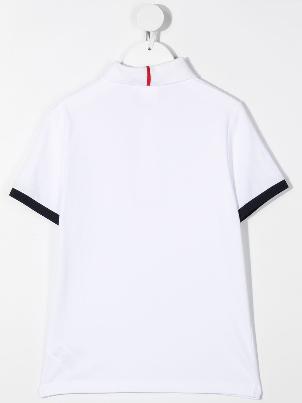 BOSS KIDS Contrast-trimmed polo shirt White/Navy