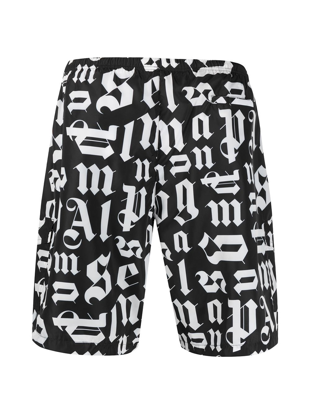 PALM ANGELS Broken Monogram Swim Shorts Black - Maison De Fashion