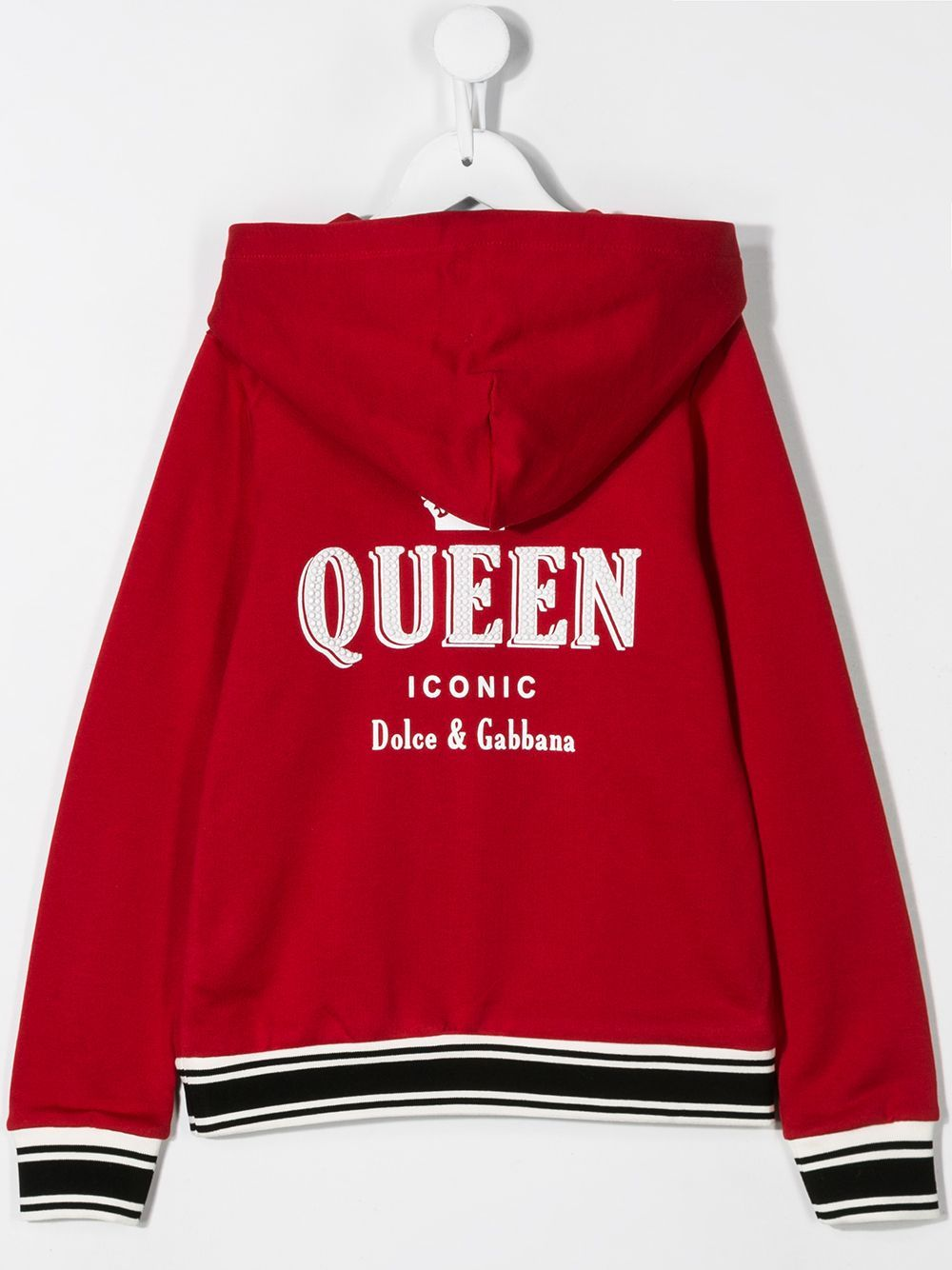 DOLCE & GABBANA KIDS Queen bomber jacket Red