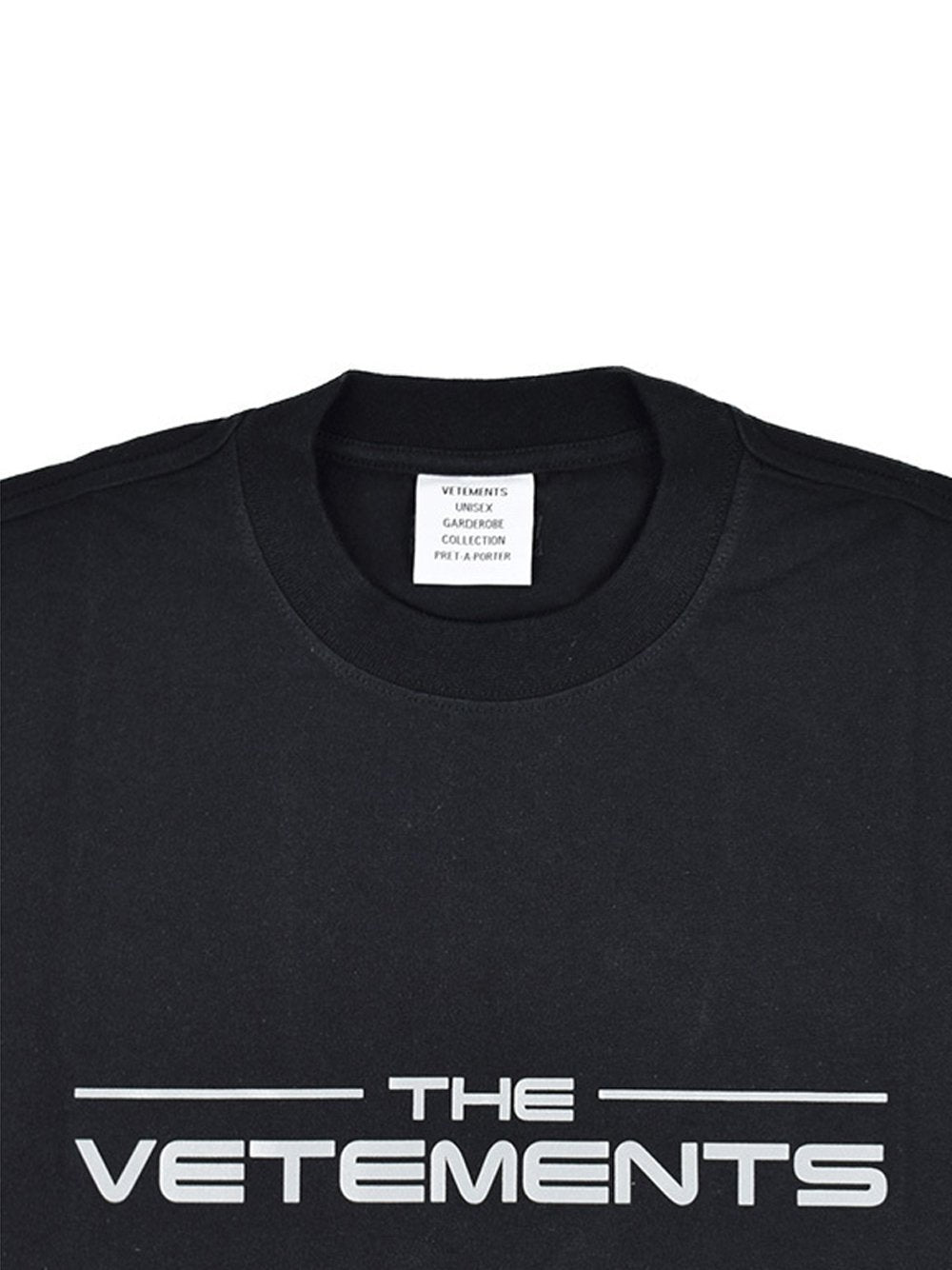 VETEMENTS Logo T-Shirt Black