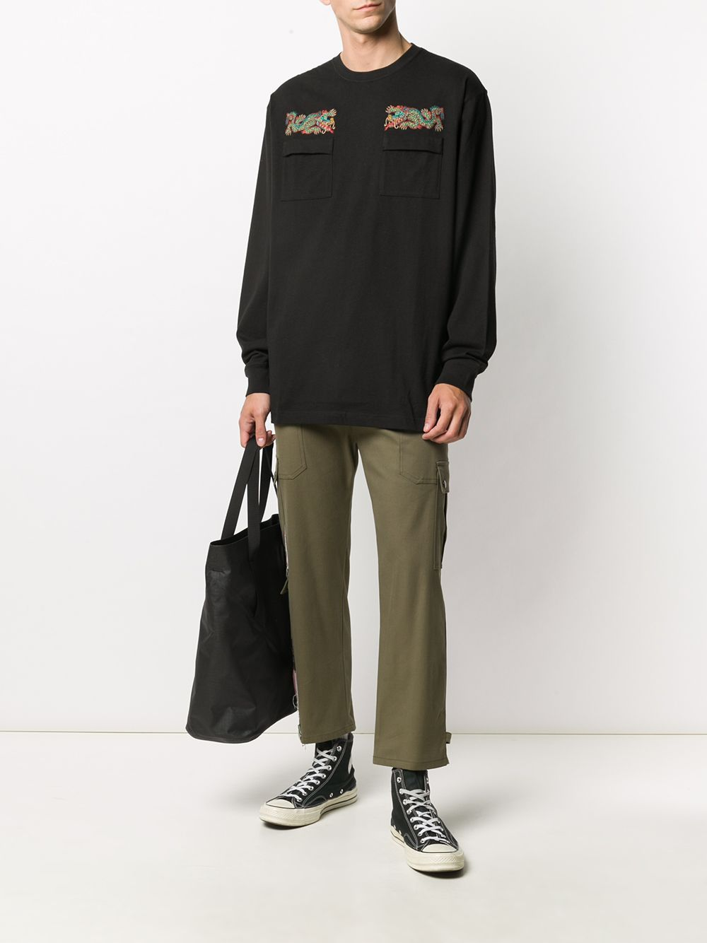MAHARISHI Liberty Dragon Long Sleeve T-Shirt Black