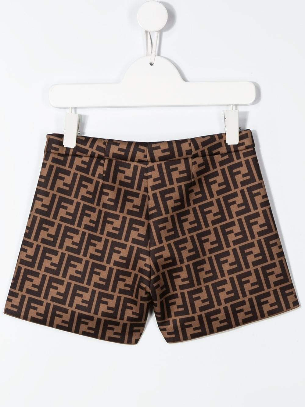 FENDI KIDS FF pattern shorts brown