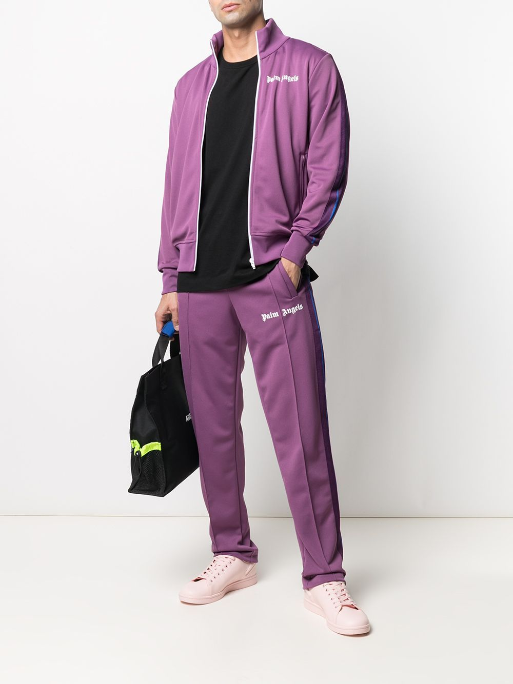 PALM ANGELS College Track Pants Purple