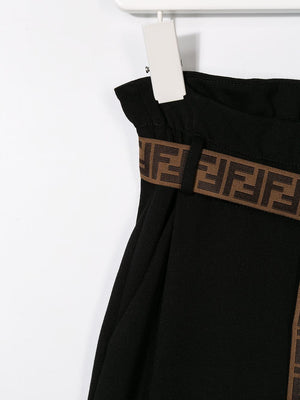 FENDI KIDS waist trousers black - Maison De Fashion