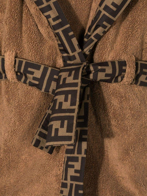 PRELOAD FENDI KIDS FF Logo Robe Brown - Maison De Fashion