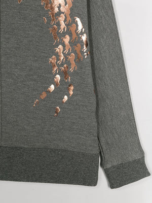 CHLOÉ KIDS horses sweatshirt - Maison De Fashion
