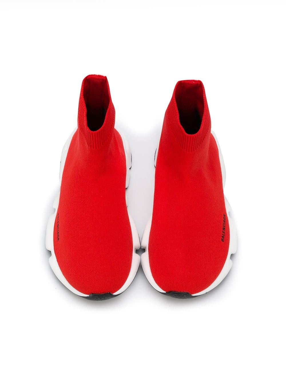 Balenciaga kids speed runner red - Maison De Fashion