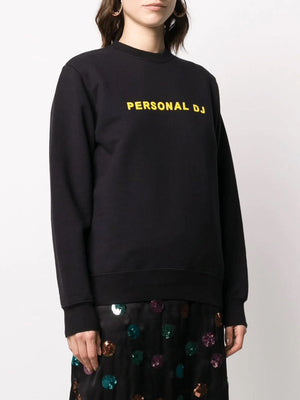KIRIN personal dj flocked logo sweatshirt - Maison De Fashion
