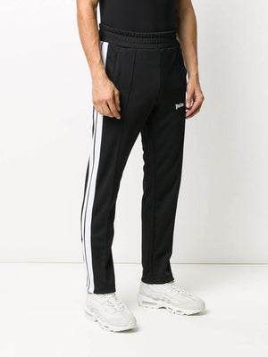 PALM ANGELS Logo Slim Track Pants Black/White