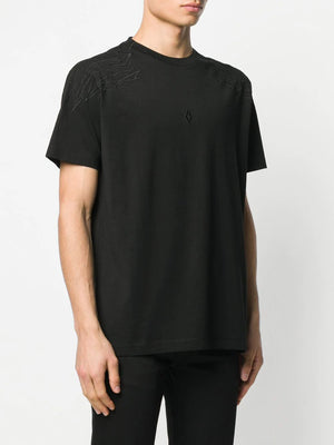 MARCELO BURLON embroidered wings t-shirts black - Maison De Fashion
