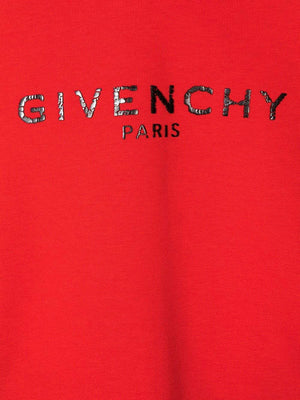 GIVENCHY KIDS Cracked Logo Sweatshirt Red - Maison De Fashion