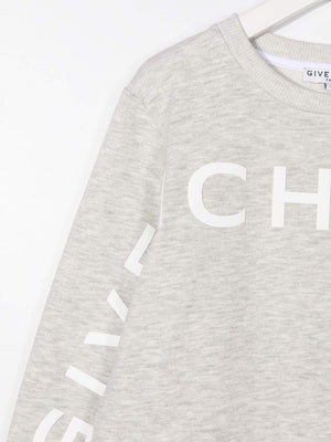GIVENCHY KIDS 3 Logo Sweatshirt Grey