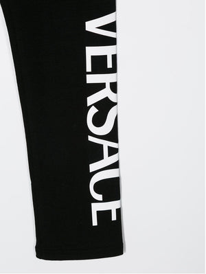 VERSACE Kids logo print leggings - Maison De Fashion