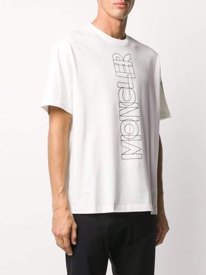 MONCLER Vertical Logo T-Shirt White