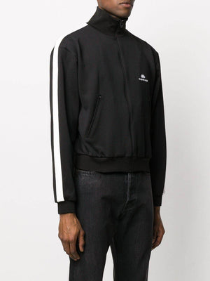 BALENCIAGA BB logo zip up jacket black/white - Maison De Fashion