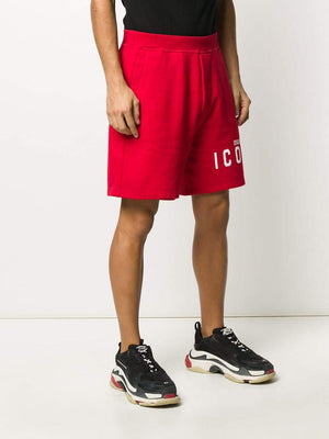 DSQUARED2 icon logo-print track shorts red