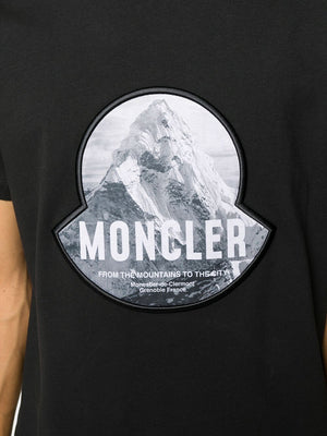 MONCLER logo print graphic t-shirt black