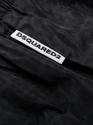 DSQUARED2 monogram-print swimming trunks black - Maison De Fashion