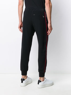 ALEXANDER MCQUEEN logo tape sweatpants black