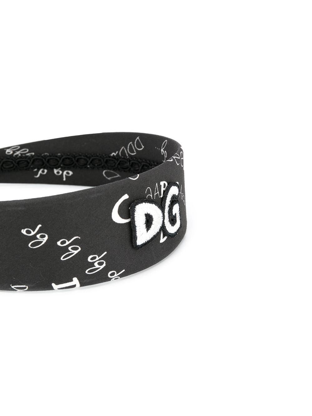 DOLCE & GABBANA KIDS Logo Print Headband Back - Maison De Fashion