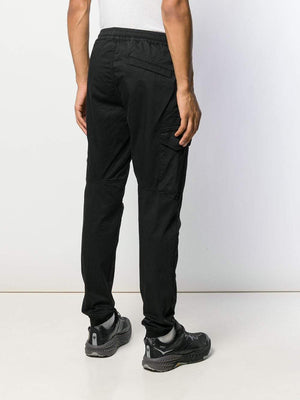 STONE ISLAND logo track pants black - Maison De Fashion