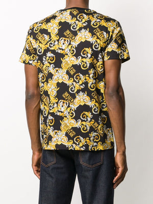 Versace Baroque Print T-shirt Black