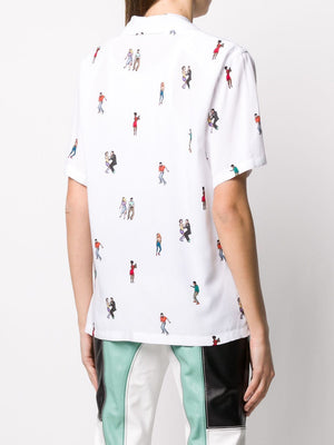 KIRIN dancing print shirt - Maison De Fashion
