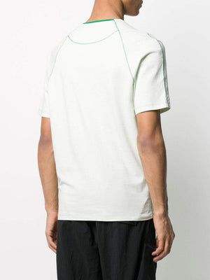 C.P. COMPANY exposed-stitch logo t-shirt green