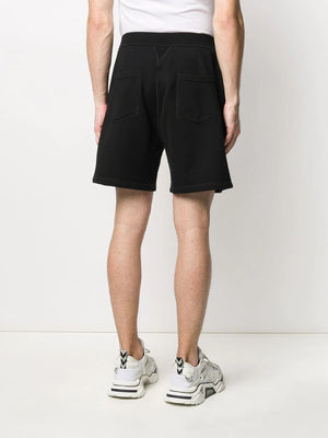 DSQUARED2 icon logo-print track shorts black/blue - Maison De Fashion