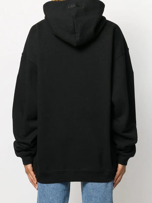 Vetements Birthday Slogan Print Hoodie Black - Maison De Fashion