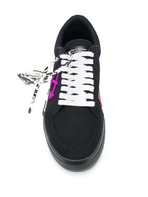 OFF-WHITE low vulcanized sneakers black/purple