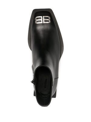BALENCIAGA Flat Rim Zipped Boots Black - Maison De Fashion